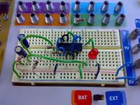 th LED de bajo consumo con 4093