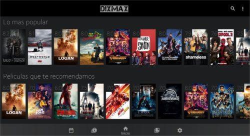 Dixmax captura 1