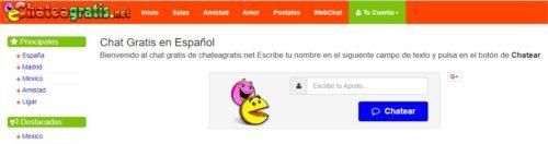 Paginas de chat gratis en español