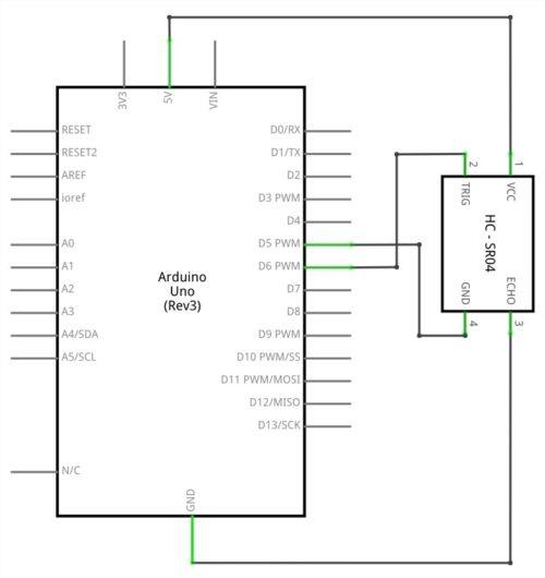 Esquema eléctrico hc-sr04
