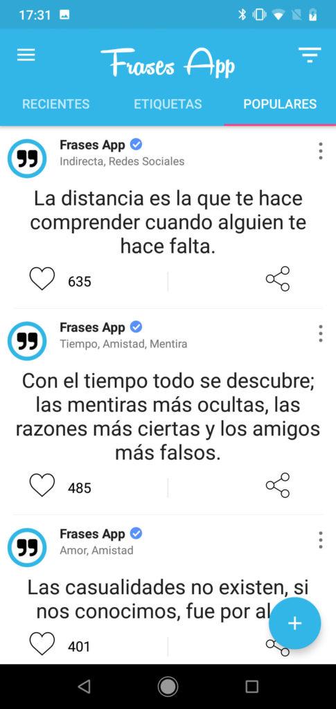 Frases App captura 3