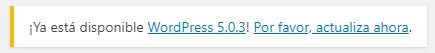 actualizar wordpress 5.0.3
