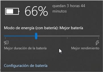 Información sobre la batería