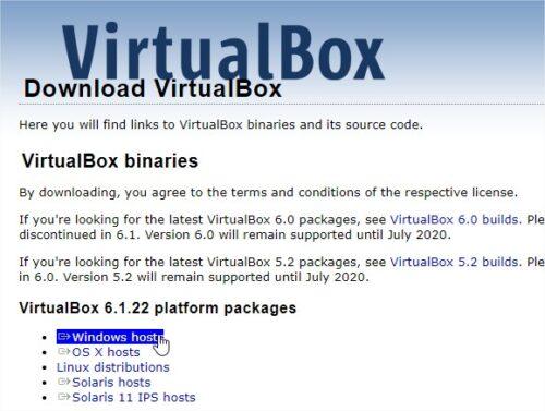 Downloads VirtualBox