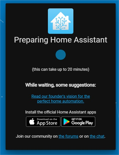 Preparing Home Assistant - Google Chrome