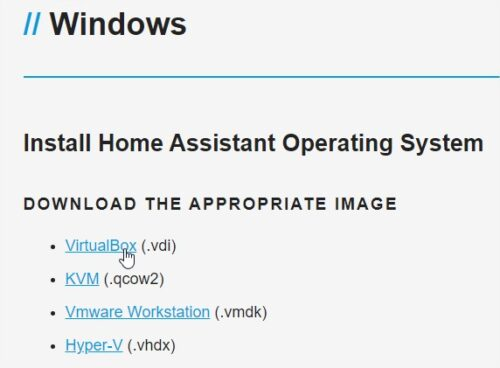Windows - Home Assistant