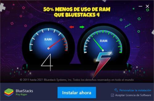 instalar bluestacks 5